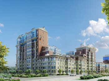 Разноэтажные секции жилого корпуса